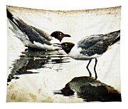 Morning Gulls - Seagull Art By Sharon Cummings Tapestry