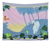 Morning Heron Tapestry