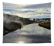 Morning In Upper Geyser Basin In Yellowstone National Park Tapestry