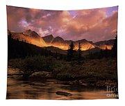 Morning Light Maligne Pass Tapestry