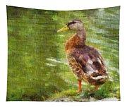 Morning Mallard Tapestry