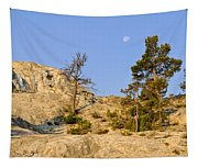 Morning Mammoth Moon Tapestry