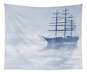 Morning Mists Cyanotype Tapestry