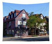 Morning On 2nd Street Solvang California Tapestry