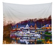 Morning On Boathouse Row Tapestry