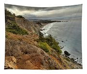 Morning Pacific Storm Clouds Tapestry