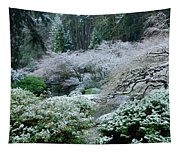 Morning Snow In The Garden Tapestry