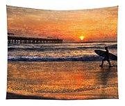 Morning Surf Tapestry