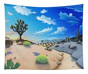 Joshua Tree Morning To Night Tapestry