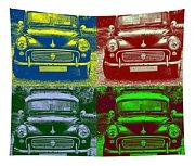 Morris Car In Pop Art Tapestry