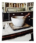 Mortar And Pestle In Apothecary Tapestry