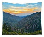 Mortons Overlook Smoky Mountain Sunset Tapestry