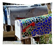 Mosaic Mailbox On The Turquoise Trail In New Mexico Tapestry