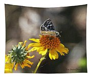 Moth And Flower Tapestry
