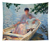 Mother And Child In A Boat Tapestry