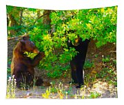 Mother Bear And Cub Tapestry
