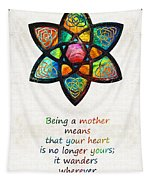 Mother Mom Art - Wandering Heart - By Sharon Cummings Tapestry