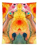Mother Nature - Abstract Goddess Art By Sharon Cummings Tapestry