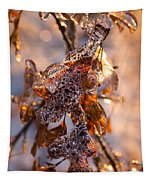 Mother Nature's Christmas Decorations - Golden Oak Leaves Jewels Tapestry