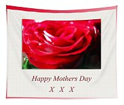 Mothers Day A Red Rose Tapestry