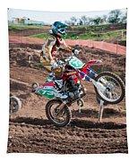 Motocross Rider Tapestry