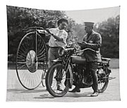 Motorcycle And Velocipede - 1921 Tapestry