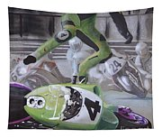 Kawasaki Motorcycle Crash Tapestry
