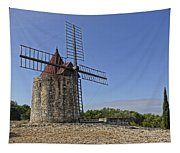 Moulin De Daudet Fontvieille France Dsc01833 Tapestry