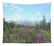 Mount Katahdin And Wild Flowers Tapestry