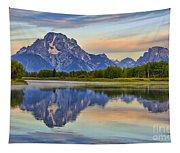 Mount Moran At Sunrise Tapestry