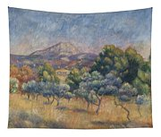 Mount Of Sainte-victoire, C.1888-89 Tapestry