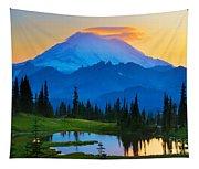 Mount Rainier Goodnight Tapestry