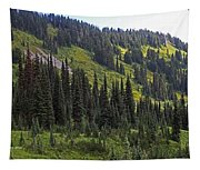 Mount Rainier Ridges And Fir Trees.. Tapestry
