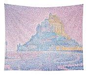 Mount Saint Michel Fog And Sun Tapestry