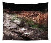 Mount Trashmore - Series Iv - Painted Photograph Tapestry