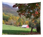 Mountain Barn Tapestry