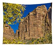 Mountain Cliffs At Zion Tapestry