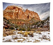 Mountain In Winter Tapestry