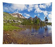 Mountain Lake In The Dolomites Tapestry
