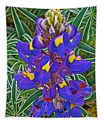 Mountain Lupine In Ancient Incan Pisac In Andes Mountains Above Sacred Valley-peru   Tapestry