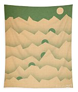 Mountain Moon Rising Tapestry