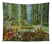Mountain Poppies Tapestry