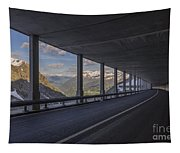 Mountain Road And Tunnel Tapestry