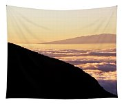 Mountain Top Above The Clouds Tapestry