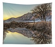 Mountains And Trees Tapestry