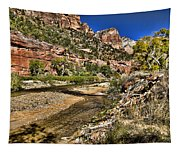 Mountains And Virgin River - Zion Tapestry