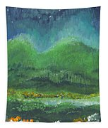 Mountains At Night Tapestry