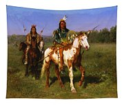 Mounted Indians Carrying Spears Tapestry