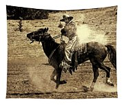 Mounted Shooting Tapestry