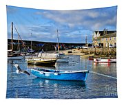 Mousehole Harbour Morning Tapestry